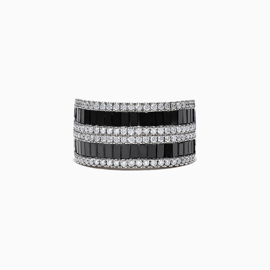 Effy 14K White Gold Black and White Diamond Ring, 2.48 TCW