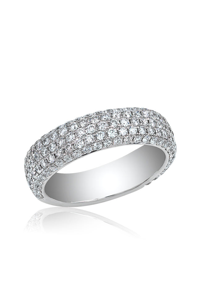 Effy 18K White Gold Diamond Pave Ring, 1.63 TCW