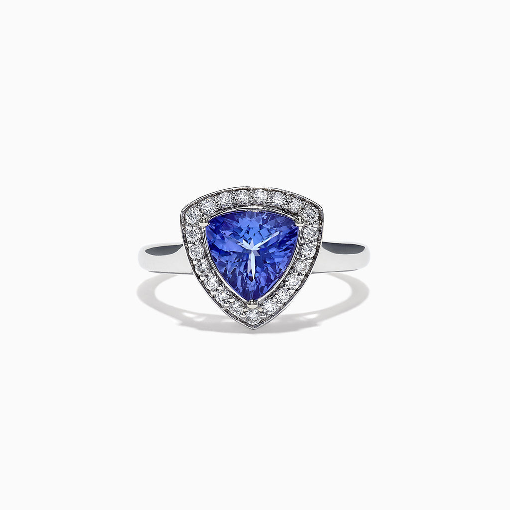 Effy Tanzanite Royale 14K White Gold Tanzanite Diamond Ring, 1.75 TCW