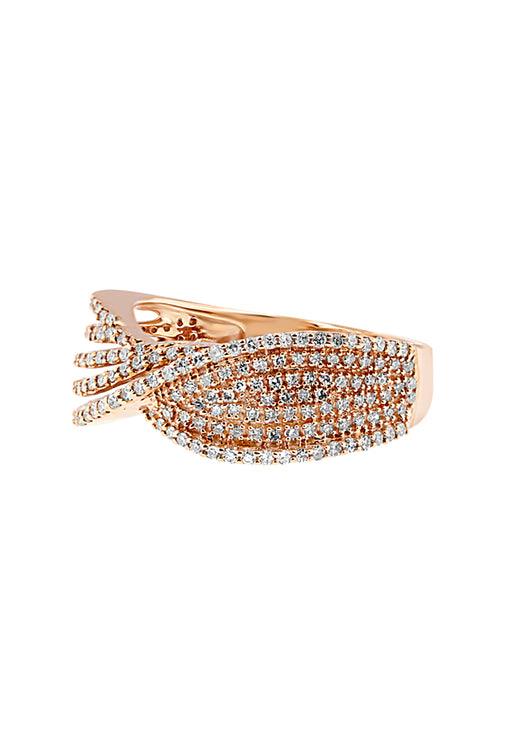 Effy 14K Rose Gold Diamond Fashion Ring, 0.64 TCW
