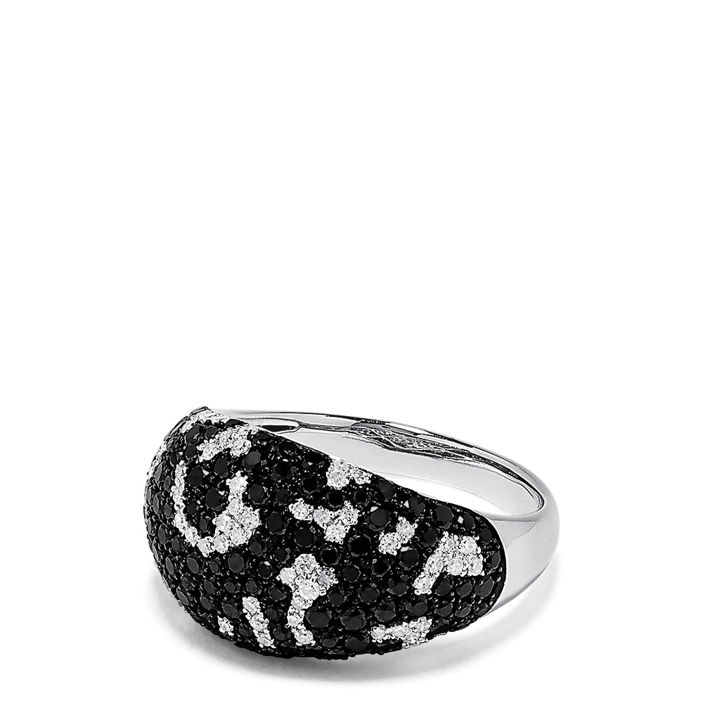 Effy 14K White Gold Black and White Diamond Ring, 1.47 TCW