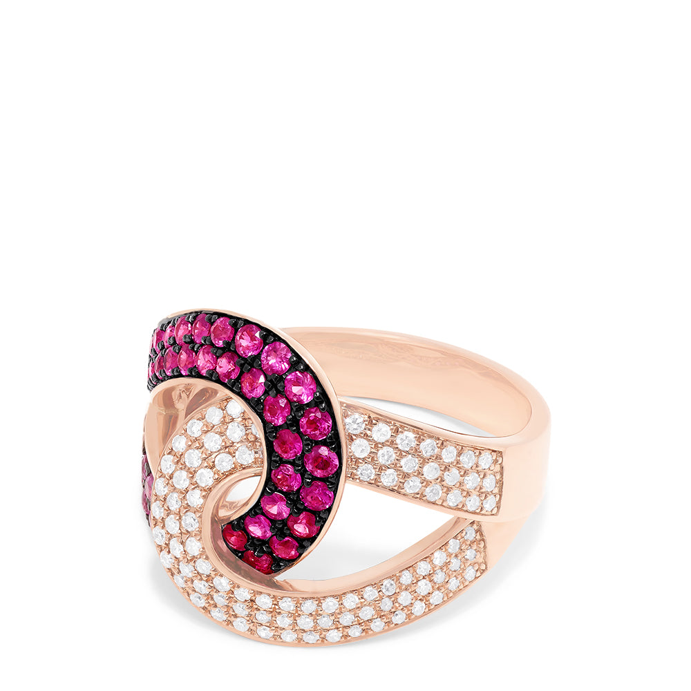 Effy Rosa 14K Rose Gold Ruby and Diamond Ring, 1.15 TCW