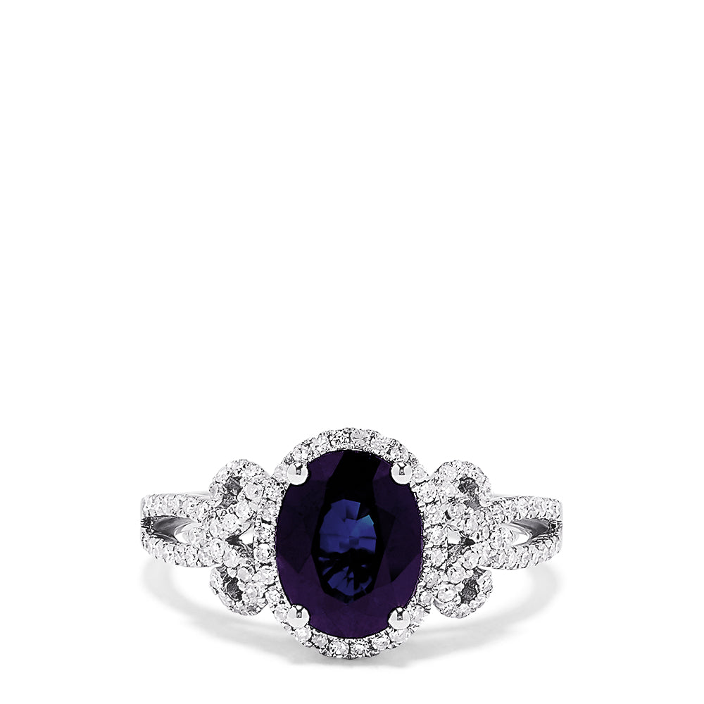 Effy Royale Bleu 14K White Gold Sapphire and Diamond Ring, 2.27 TCW