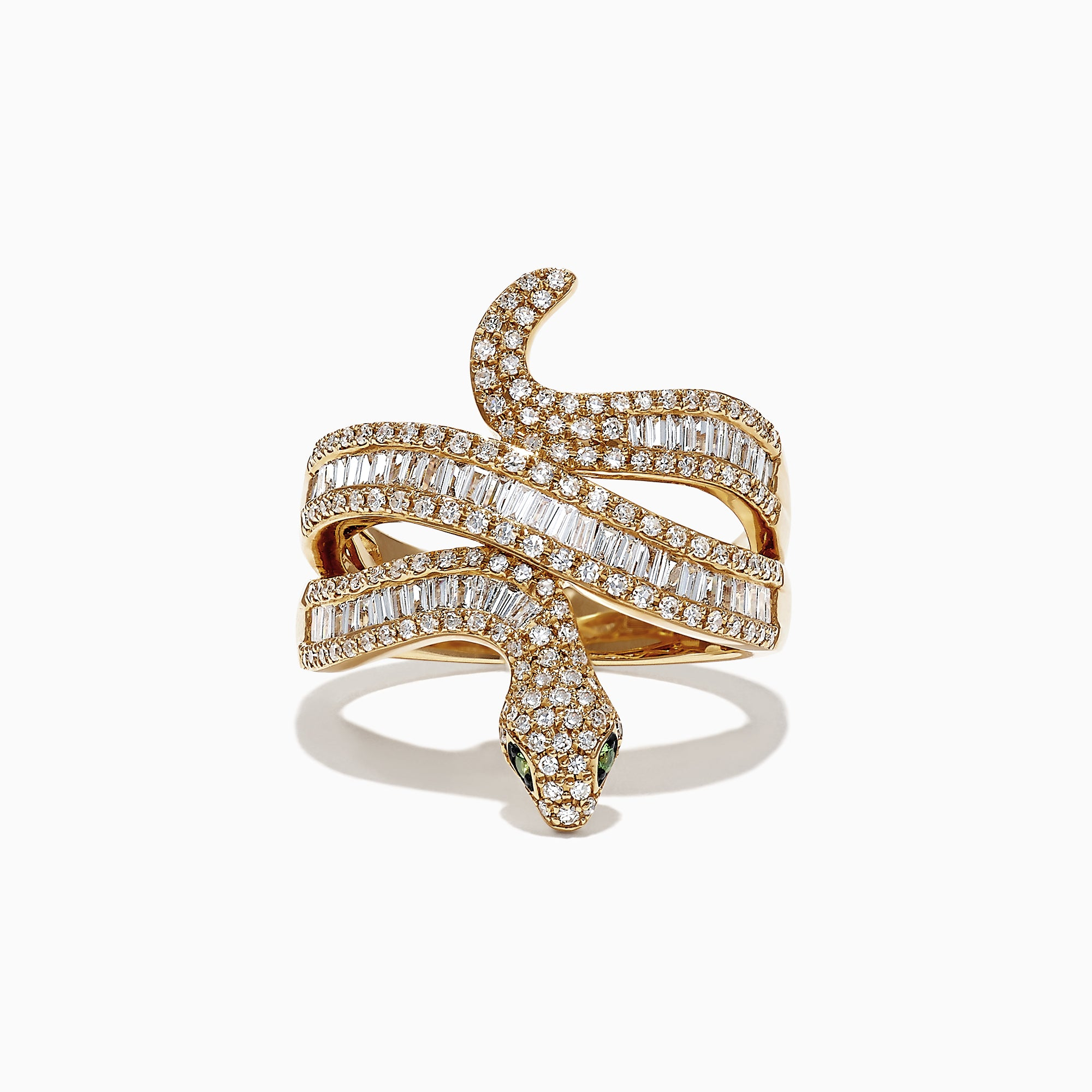 Effy Safari 14K Yellow Gold Diamond Snake Ring, 0.95 TCW
