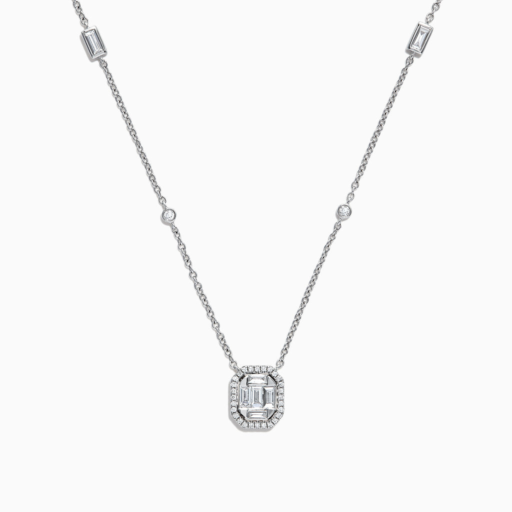 Effy Classique 14K White Gold Diamond Necklace, 0.51 TCW