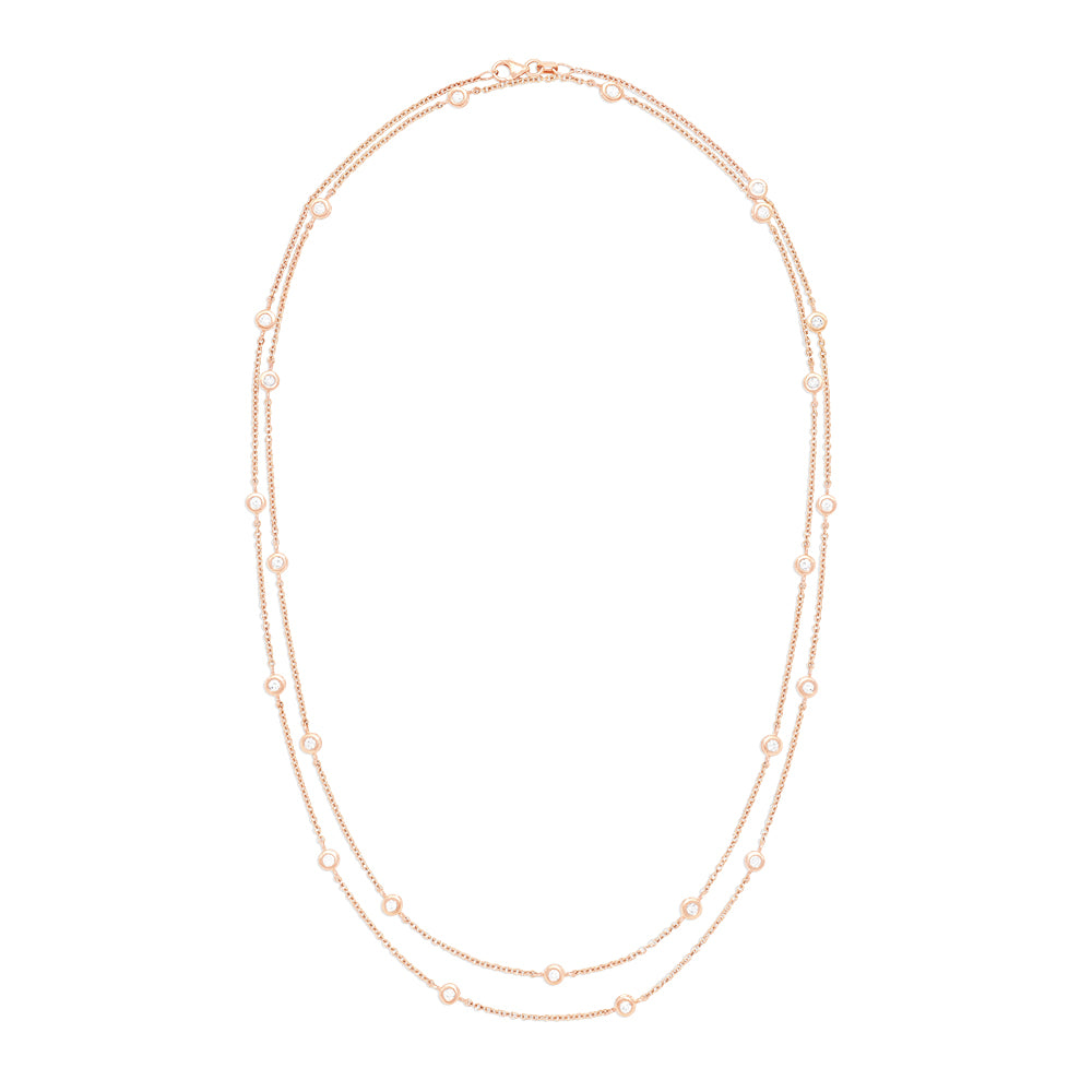 "Effy 14K Rose Gold Diamond Station 36"" Necklace, 1.88 TCW"