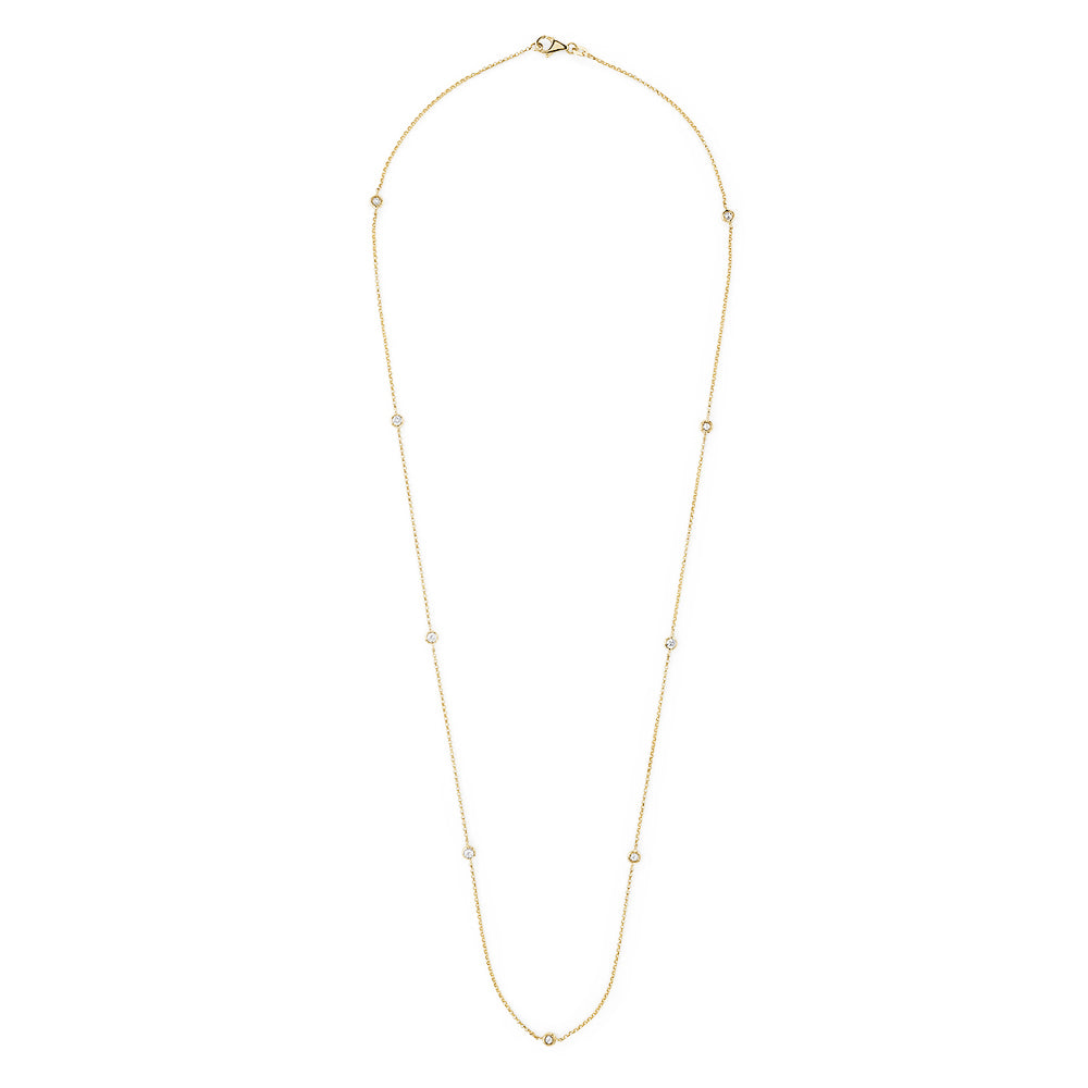 Effy D'Oro 14K Yellow Gold Diamond Station Necklace, 0.62 TCW
