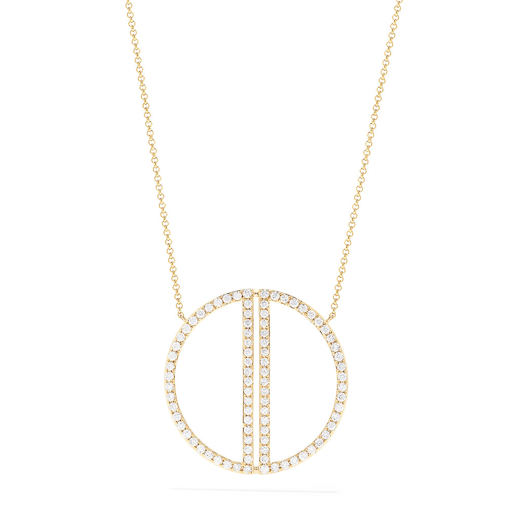 Effy 14K Yellow Gold Diamond Geo Necklace, 0.97 TCW