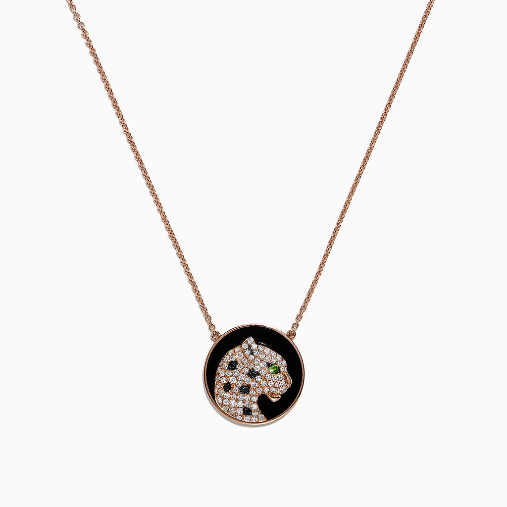Effy Signature 14K Rose Gold Diamond & Tsavorite Necklace, 0.35 TCW