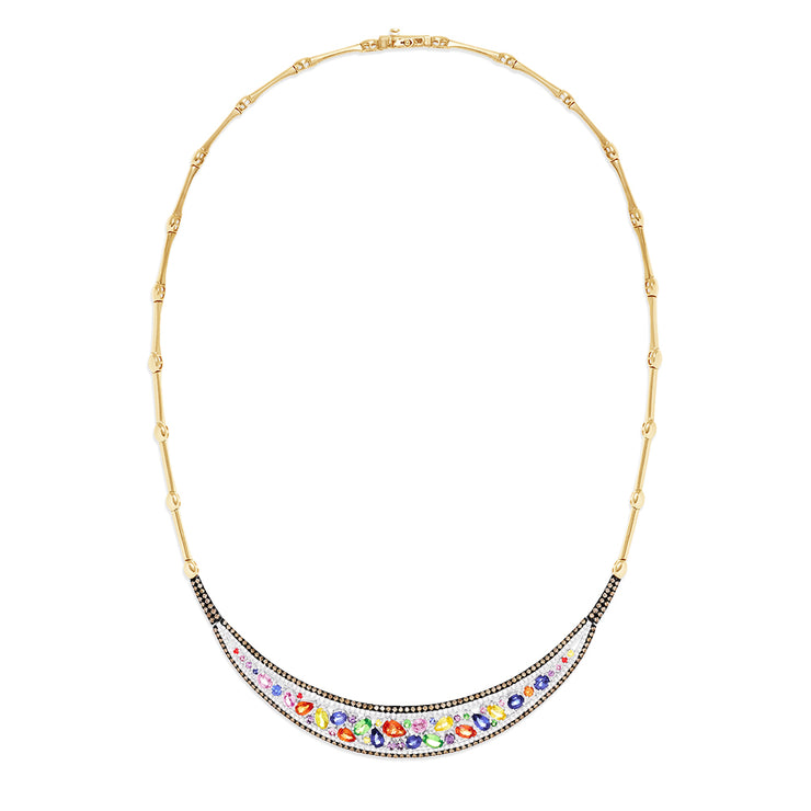 Effy Watercolors 14K 2-Tone Gold Sapphire and Diamond Necklace, 7.73 TCW