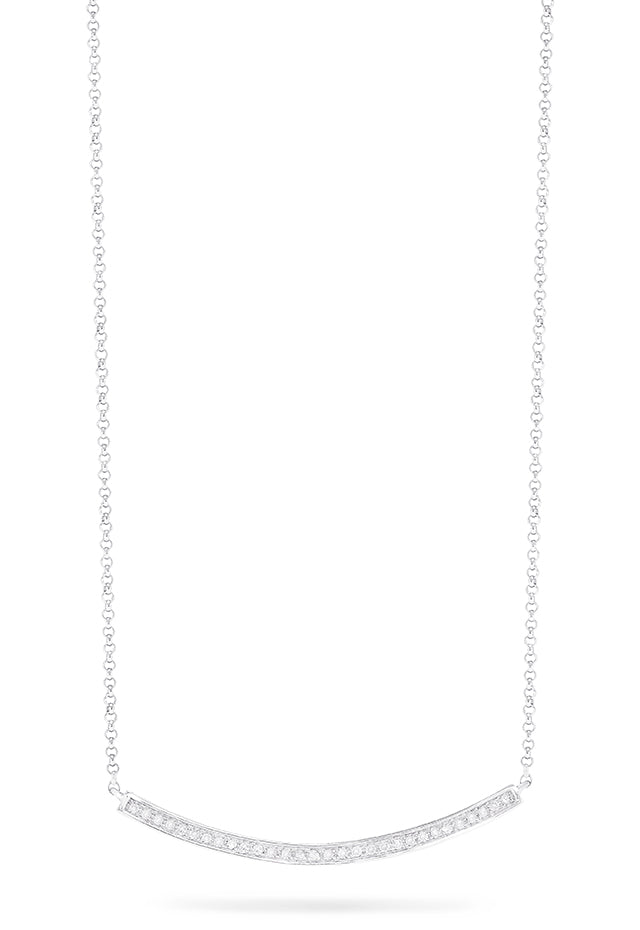 Effy Pave Classica 14K White Diamond Necklace, 0.10 TCW