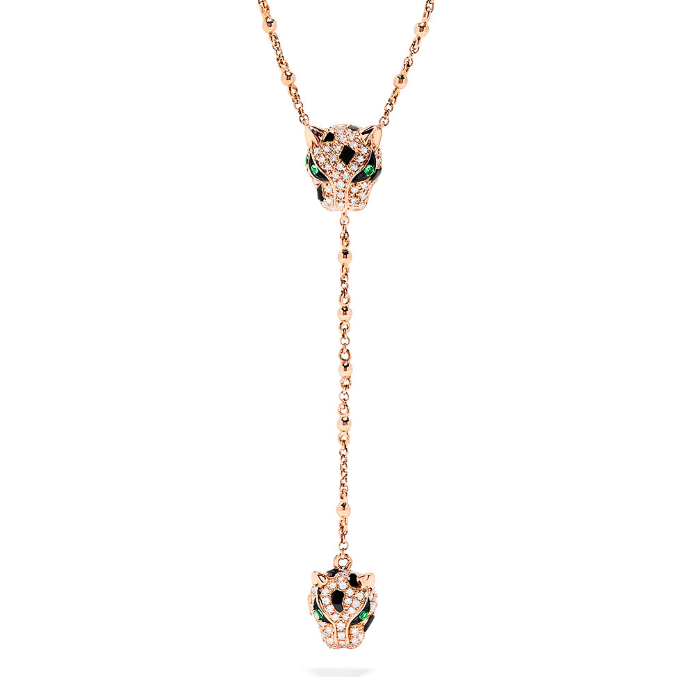 Effy Signature 14K Rose Gold Diamond & Tsavorite Y Necklace, 0.45 TCW