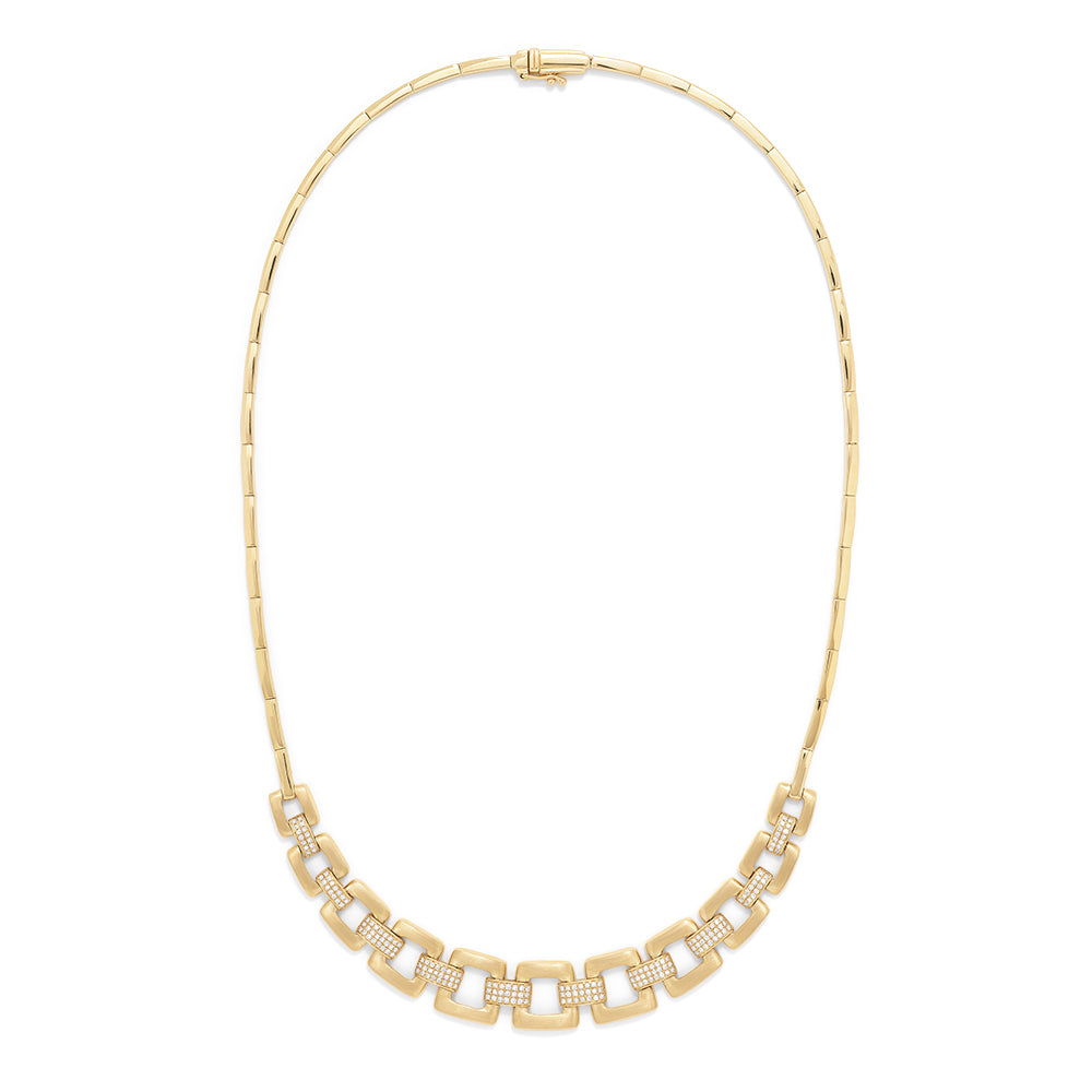 Effy D'Oro 14K Yellow Gold Diamond Links Necklace, 0.80 TCW