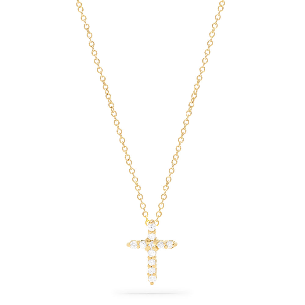 Effy Novelty 14K Yellow Gold Diamond Cross Pendant, 0.22 TCW
