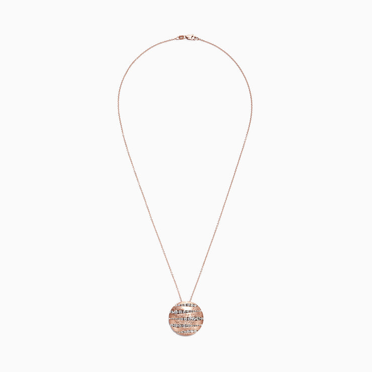 Effy Pave Rose 14K Rose Gold Diamond Pendant, 1.91 TCW