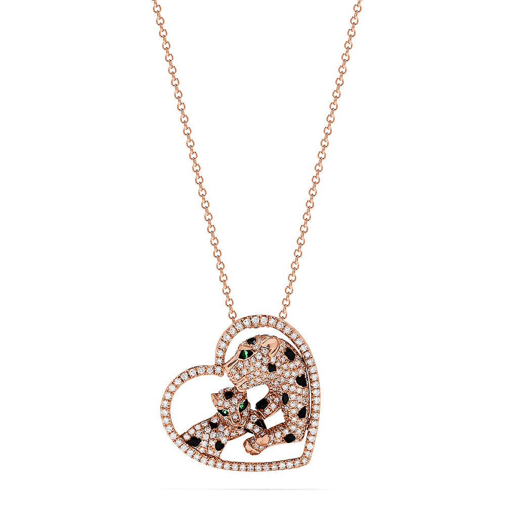 Effy Signature 14K Rose Gold Diamond & Tsavorite Heart Pendant, 0.73 TCW