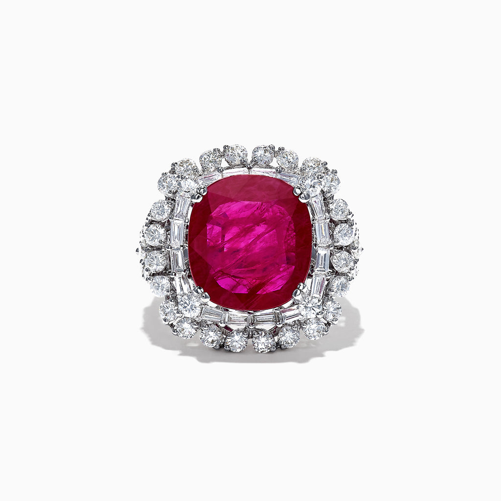 Effy Ruby Royale 18K White Gold Ruby and Diamond Ring, 9.47 TCW