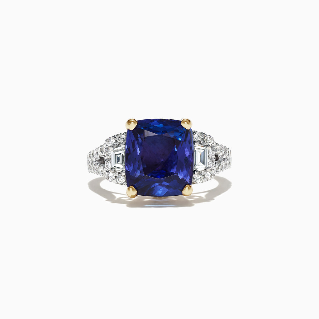 Effy Limited Edition 18K Two Tone Gold Tanzanite and Diamond Ring, 5.99 TCW