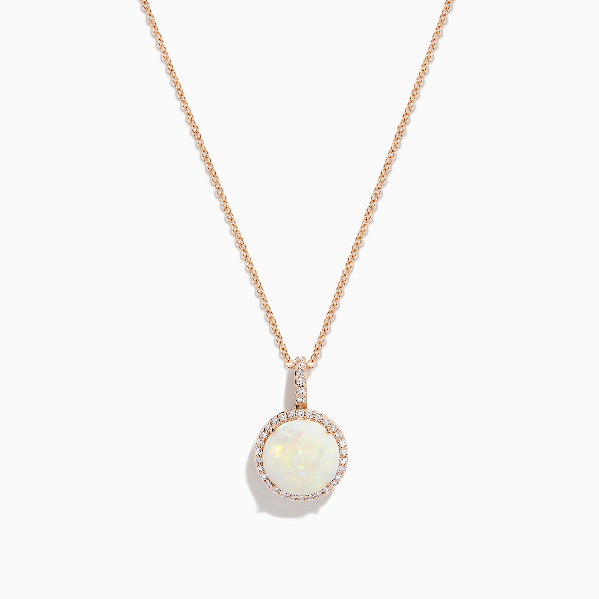 Effy Aurora 14K Rose Gold Opal and Diamond Pendant, 2.57 TCW