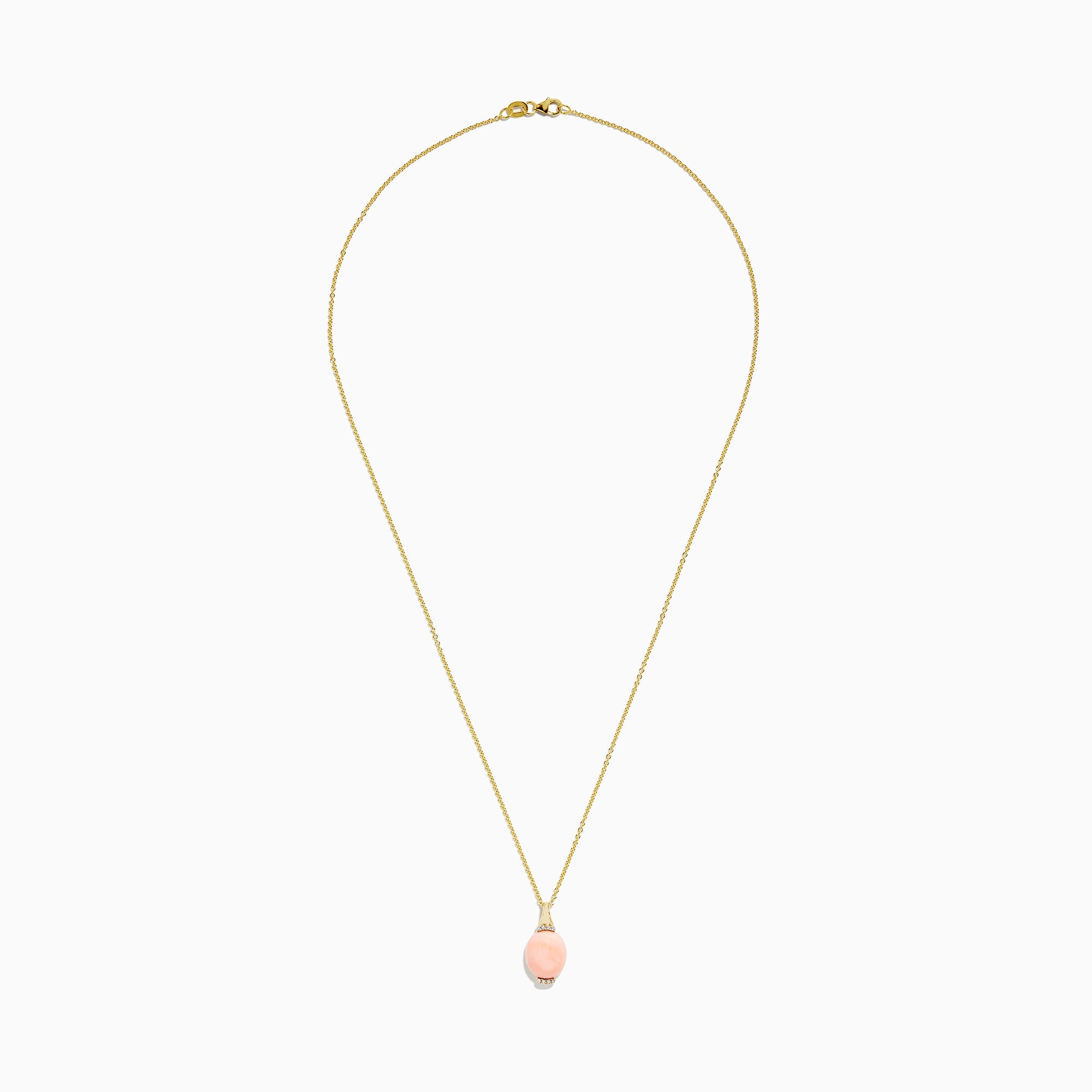 Effy 14K Yellow Gold Coral and Diamond Pendant, 4.25 TCW
