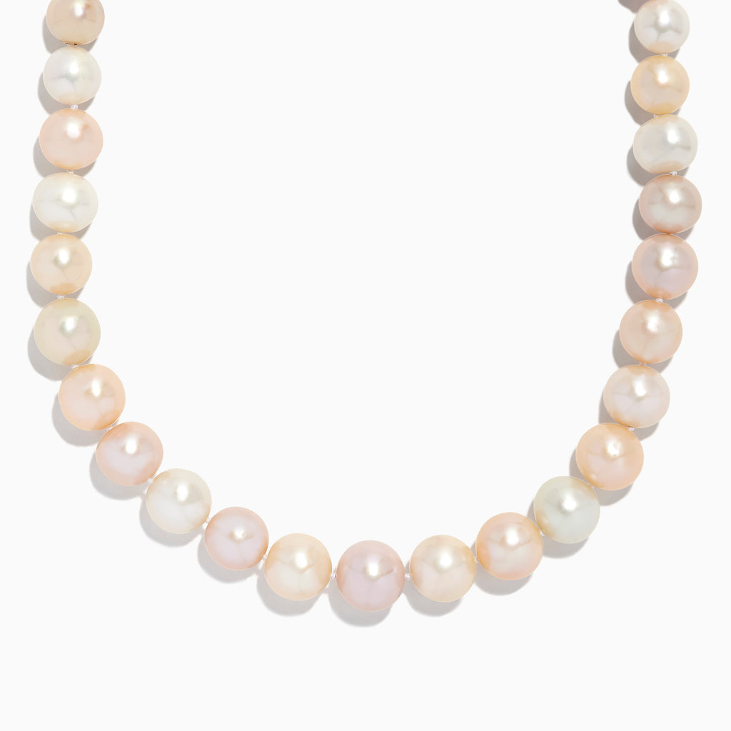 Effy 925 Sterling Silver Cultured Fresh Water Pearl Necklace