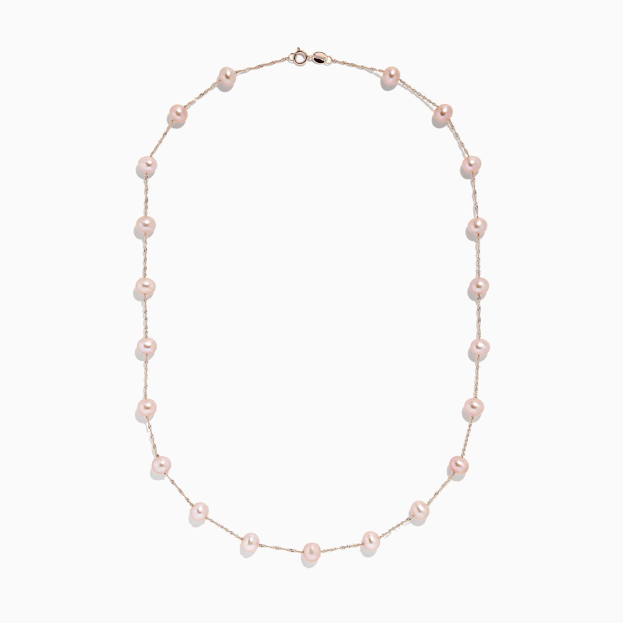 Effy 14K Rose Gold Cultured Fresh Water Pearl Necklace