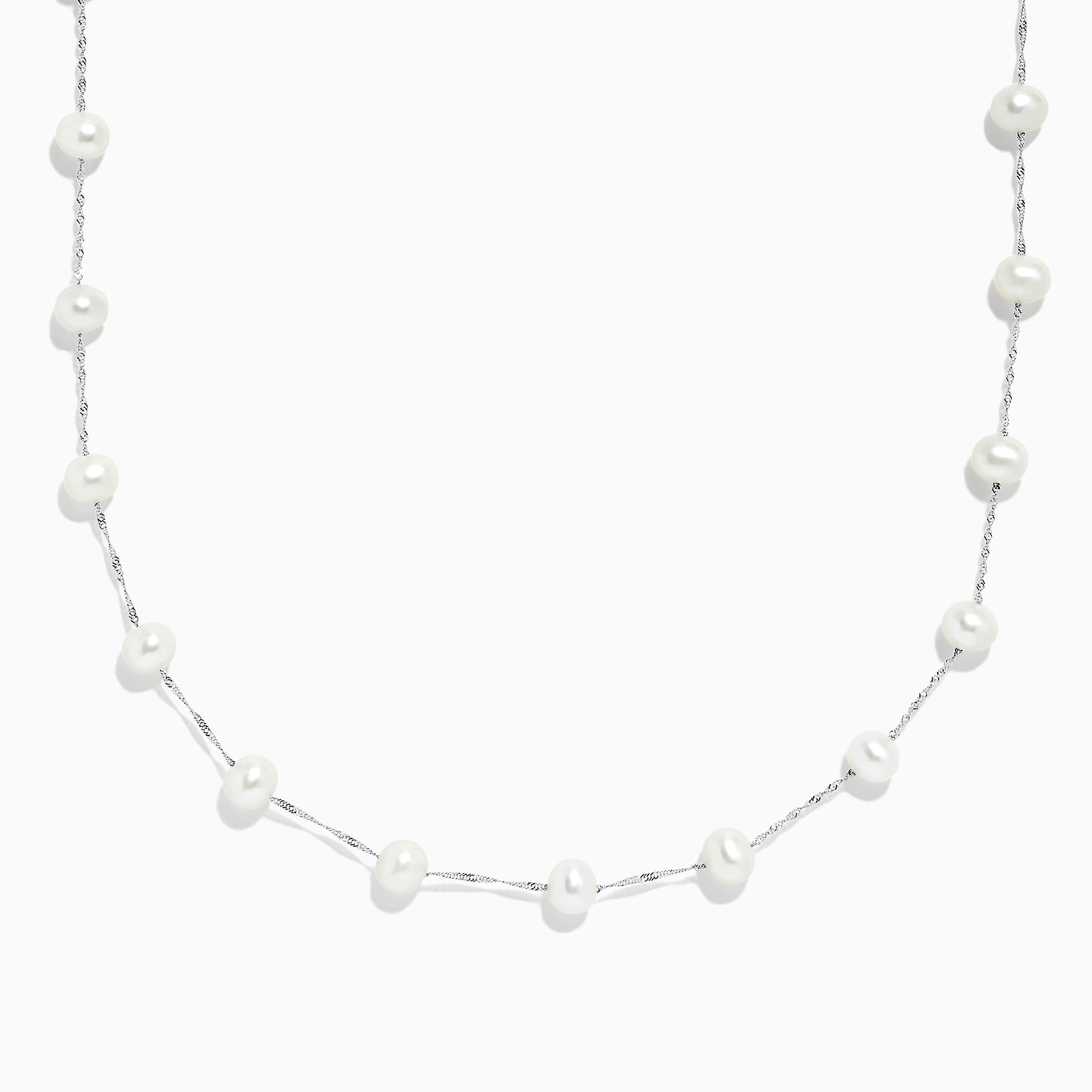 Effy 14K White Gold Cultured Fresh Water Pearl Necklace