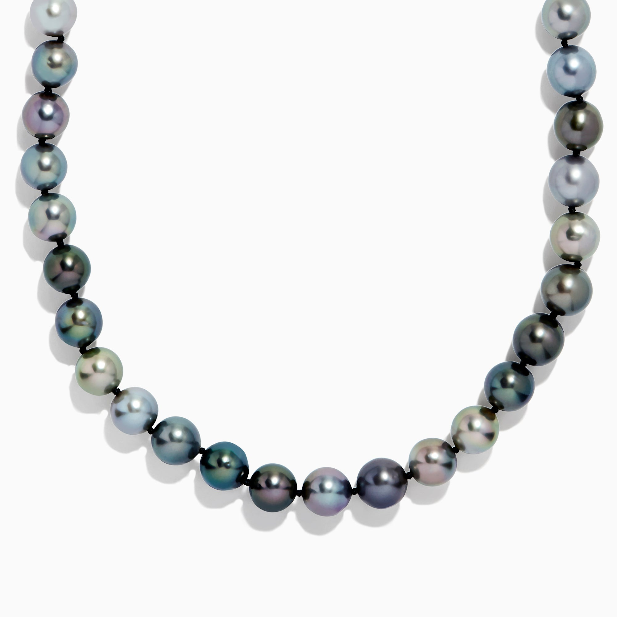 "Effy 14K White Gold 35"" Cultured Tahitian Pearl Necklace"