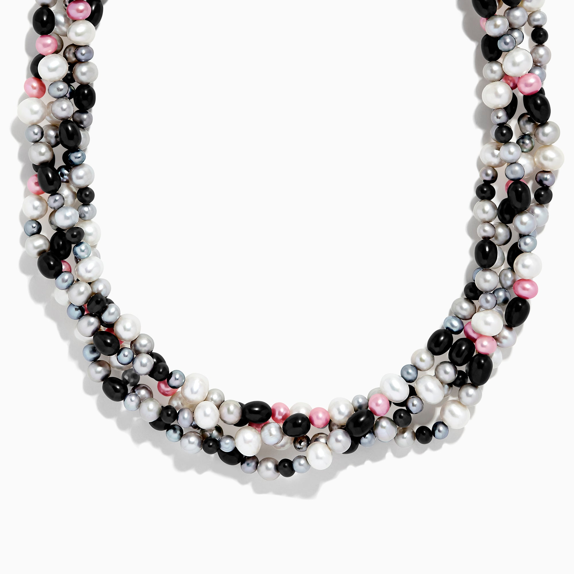 Effy Multi Color Cultured Pearl Four Strand Necklace