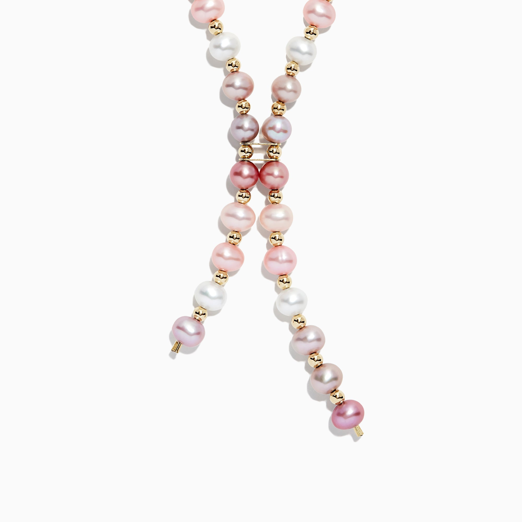 Effy 14K Yellow Gold Multi Color Cultured Fresh Water Pearl Necklace