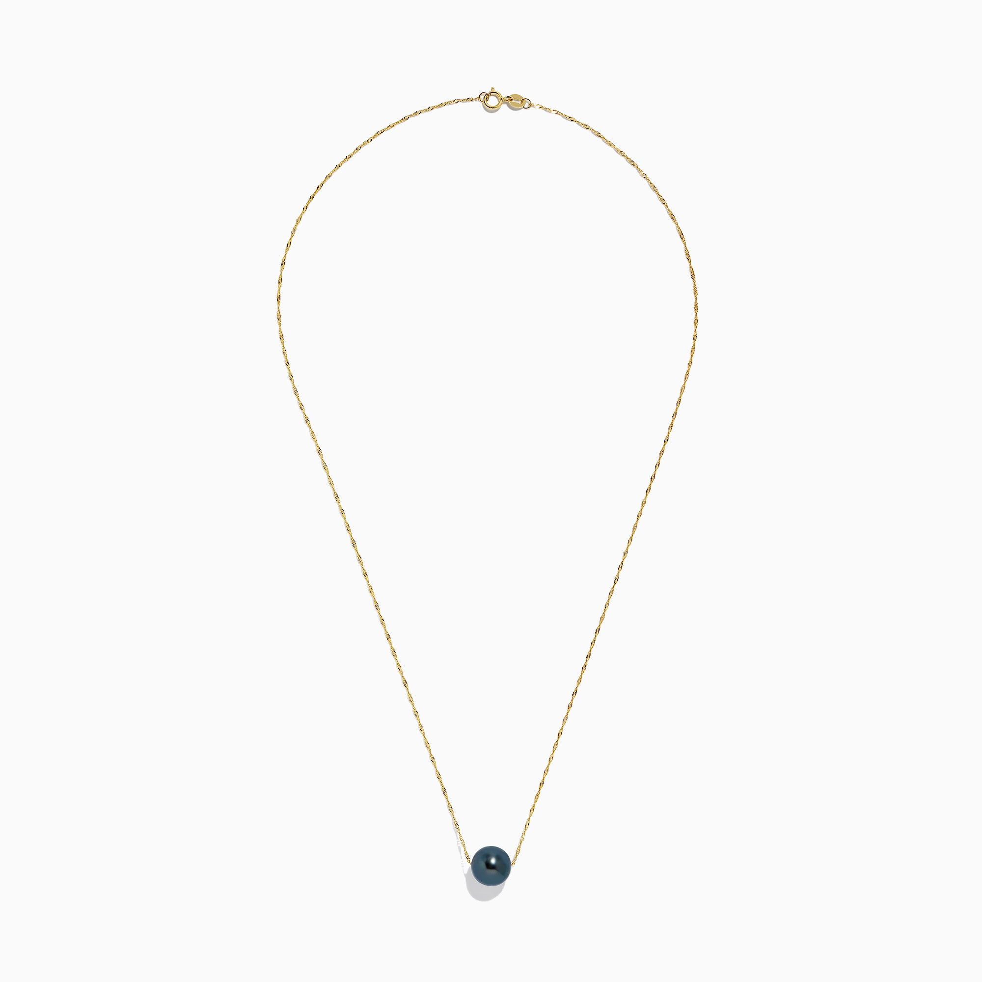 Effy 14K Yellow Gold Tahitian Pearl Necklace