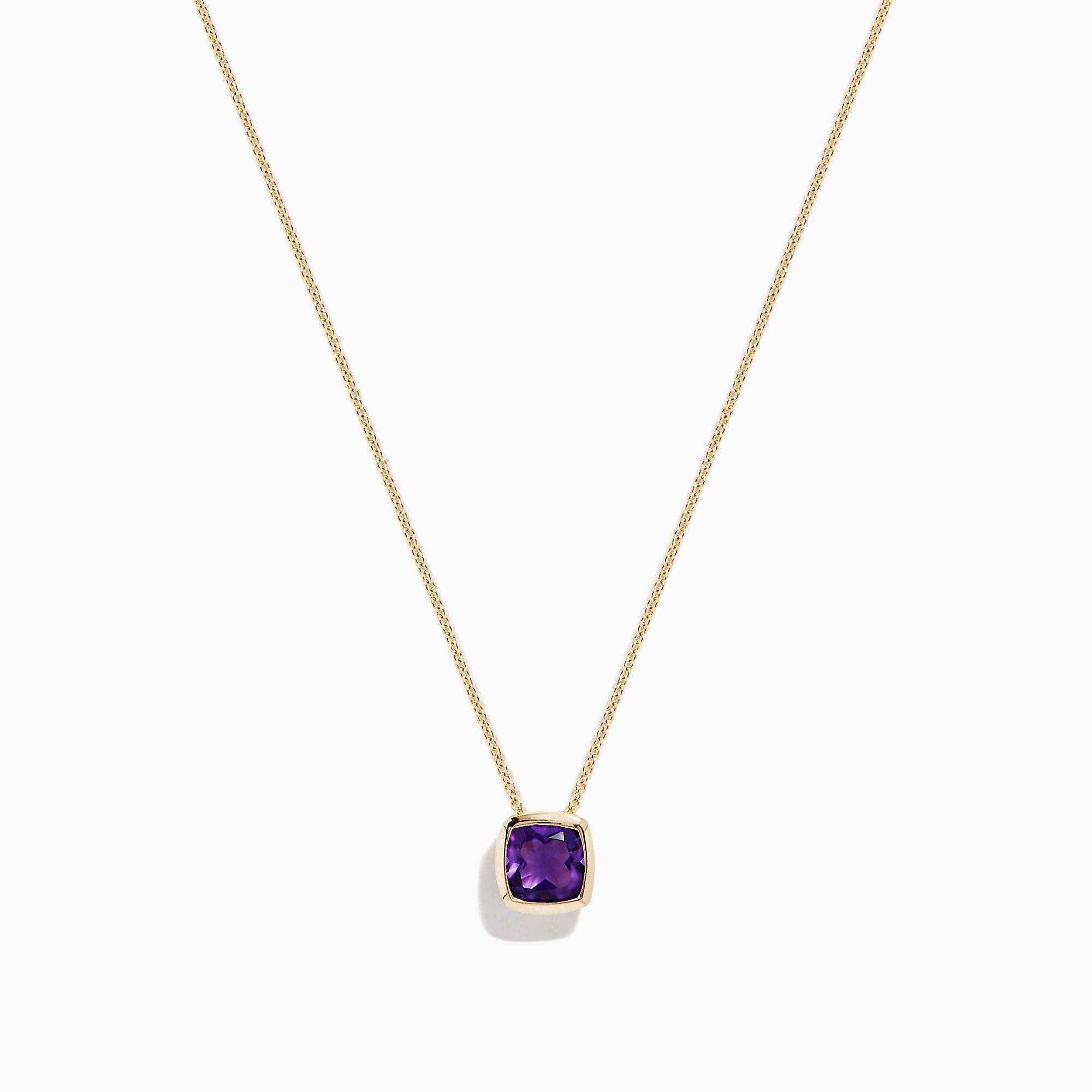 Effy 14K Yellow Gold Amethyst Necklace, 1.00 TCW