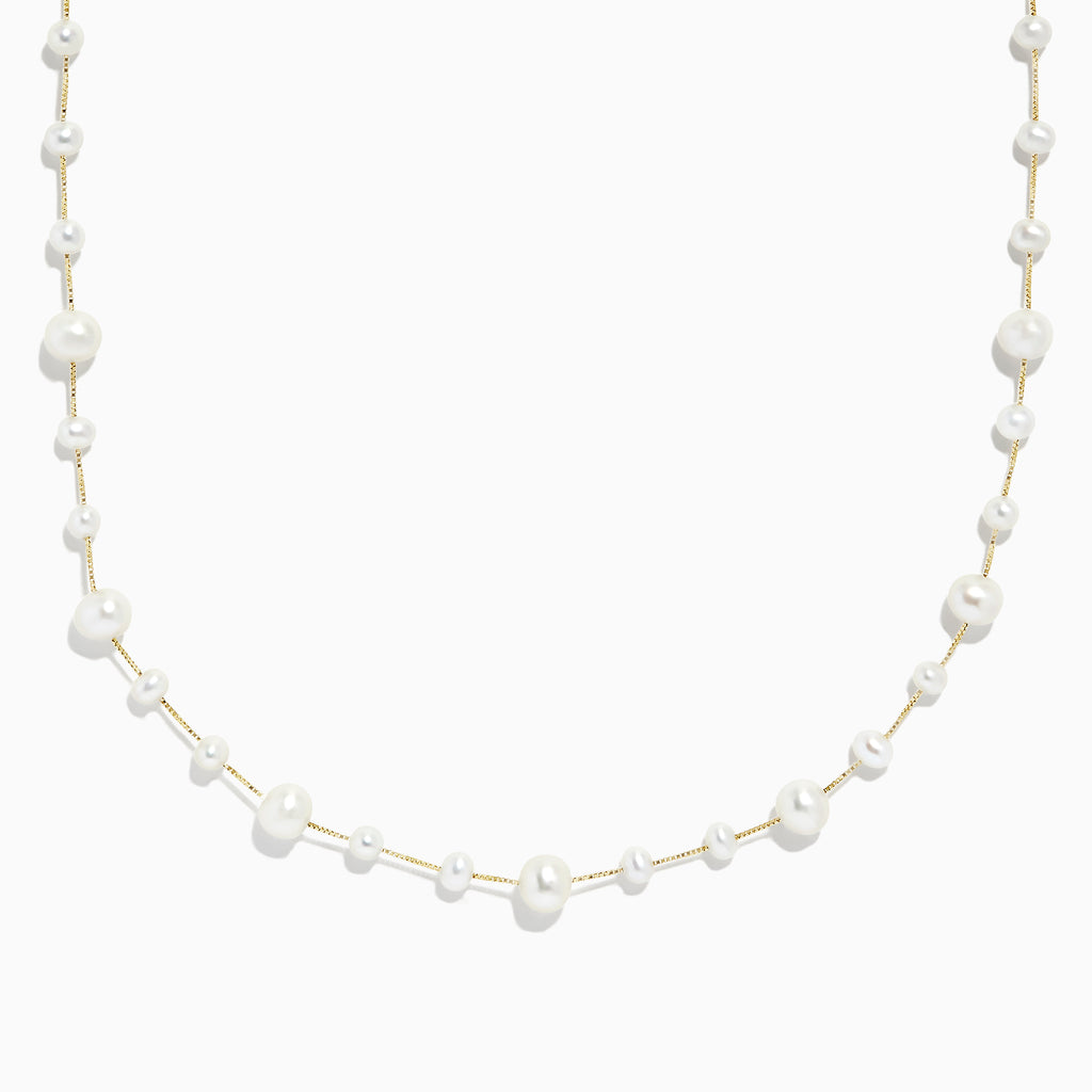 Effy 14K Yellow Gold Cultured Fresh Water Pearl Necklace