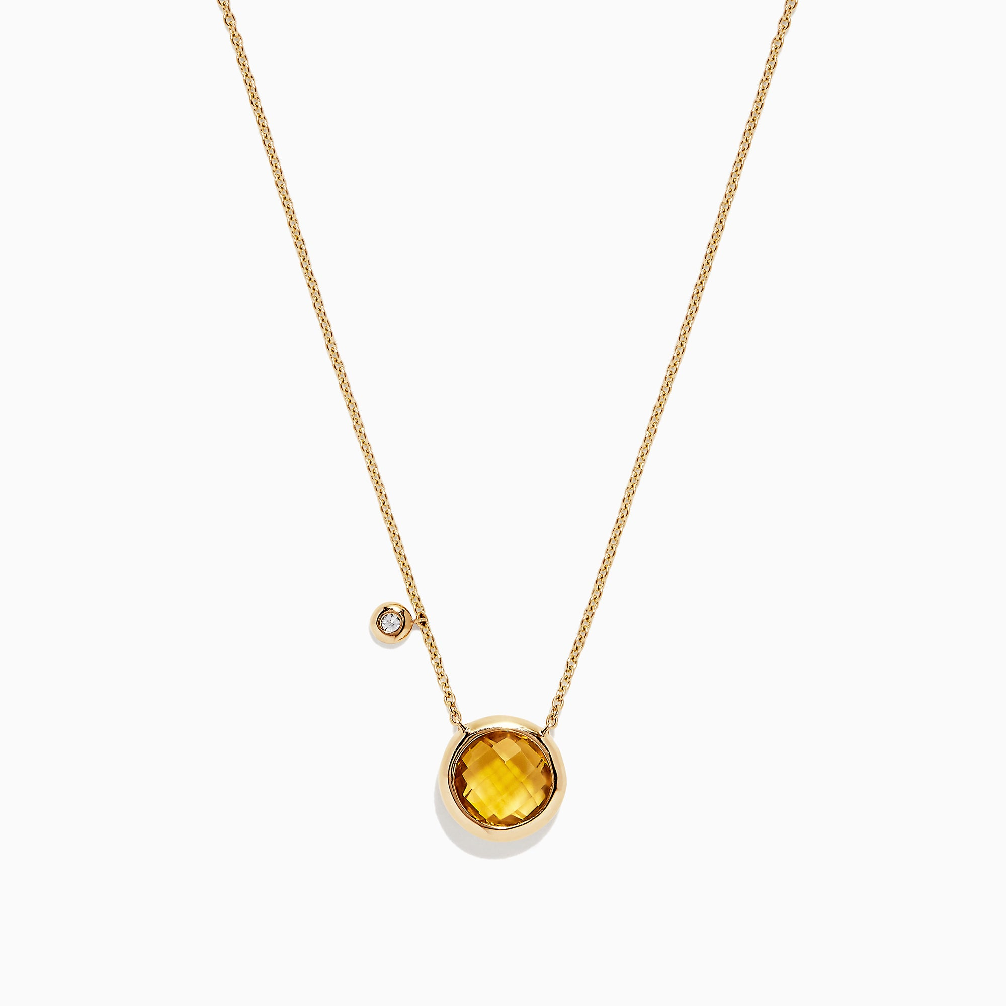 Effy Sunset 14K Yellow Gold Citrine & Diamond Bolo Chain Necklace, 1.53 TCW