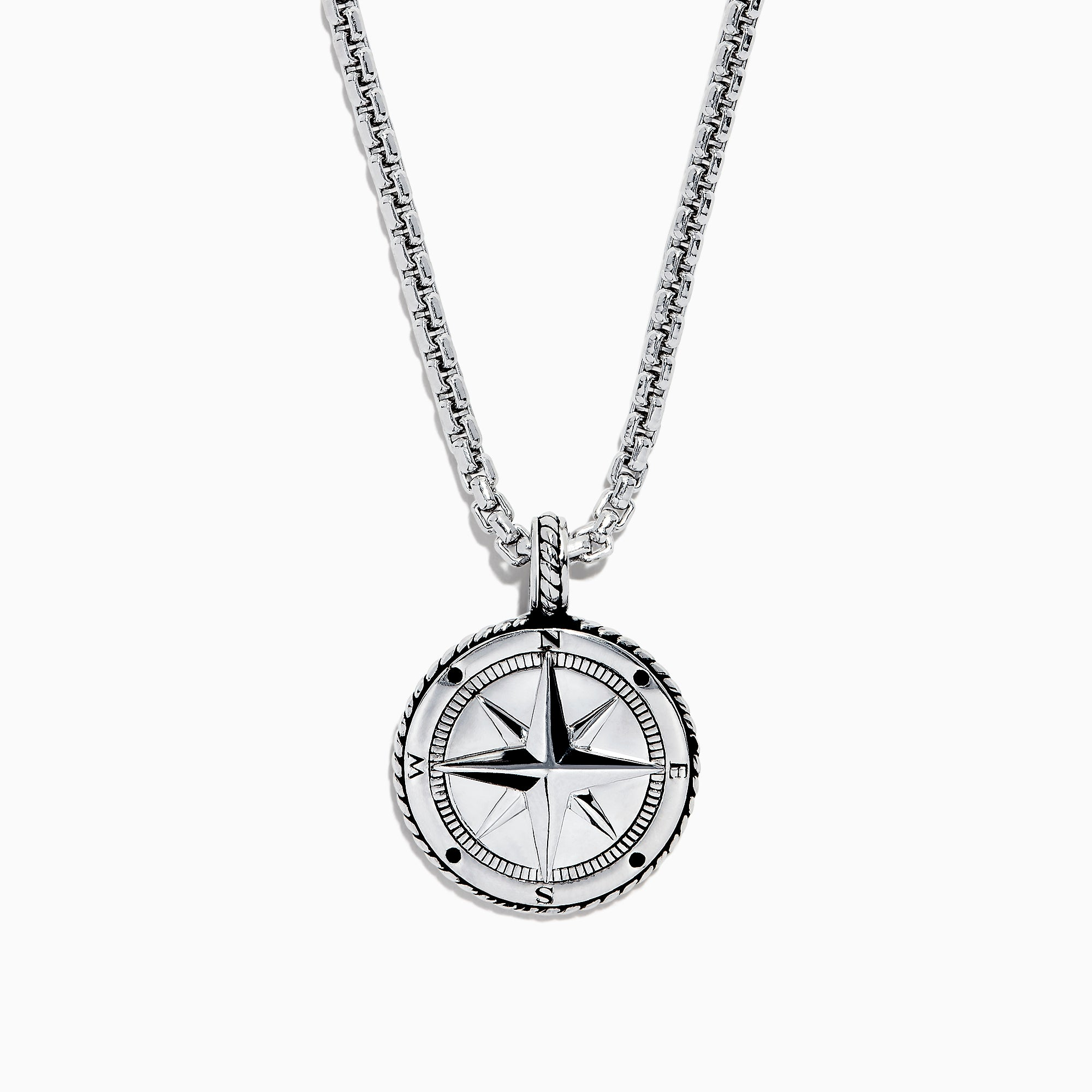 Effy Men's Sterling Silver Compass Pendant