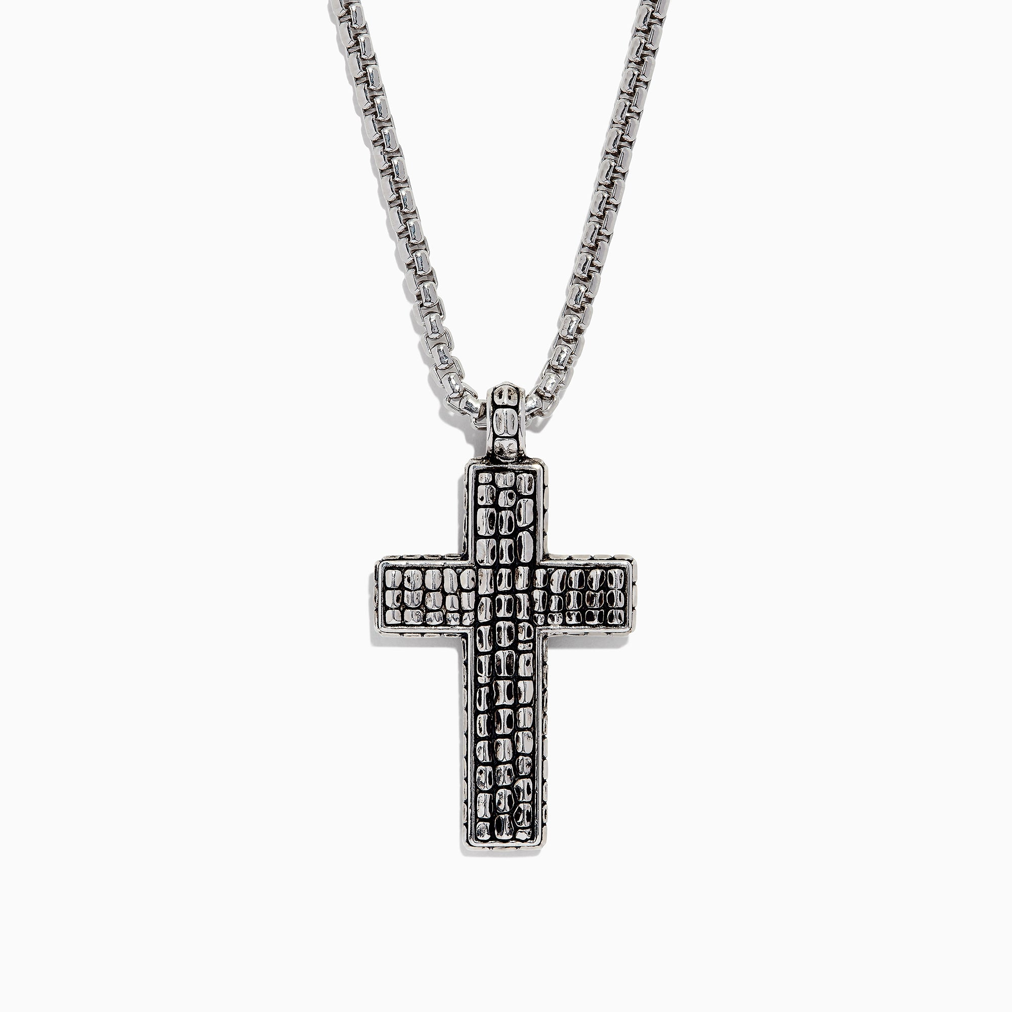 Effy Men's Sterling Silver Cross Pendant