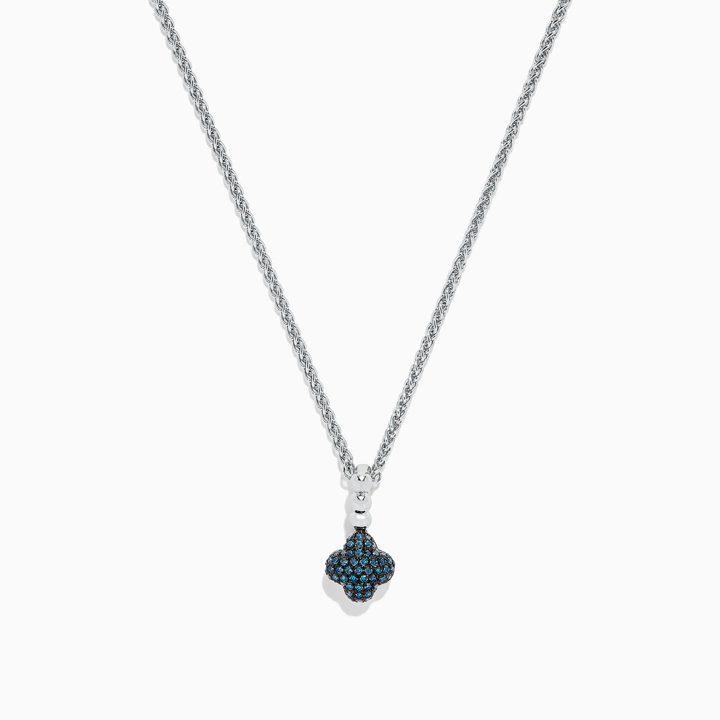 Effy 925 Sterling Silver Blue Diamond Pendant, 0.21 TCW