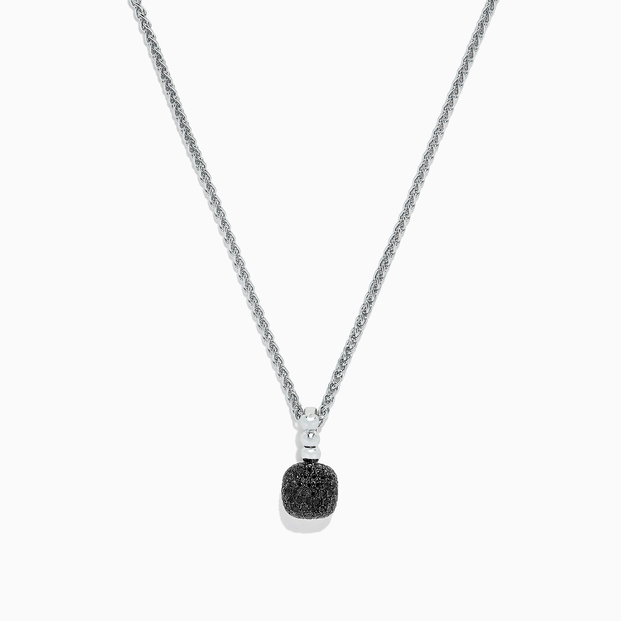 Effy 925 Sterling Silver Black Diamond Pendant, 0.21 TCW