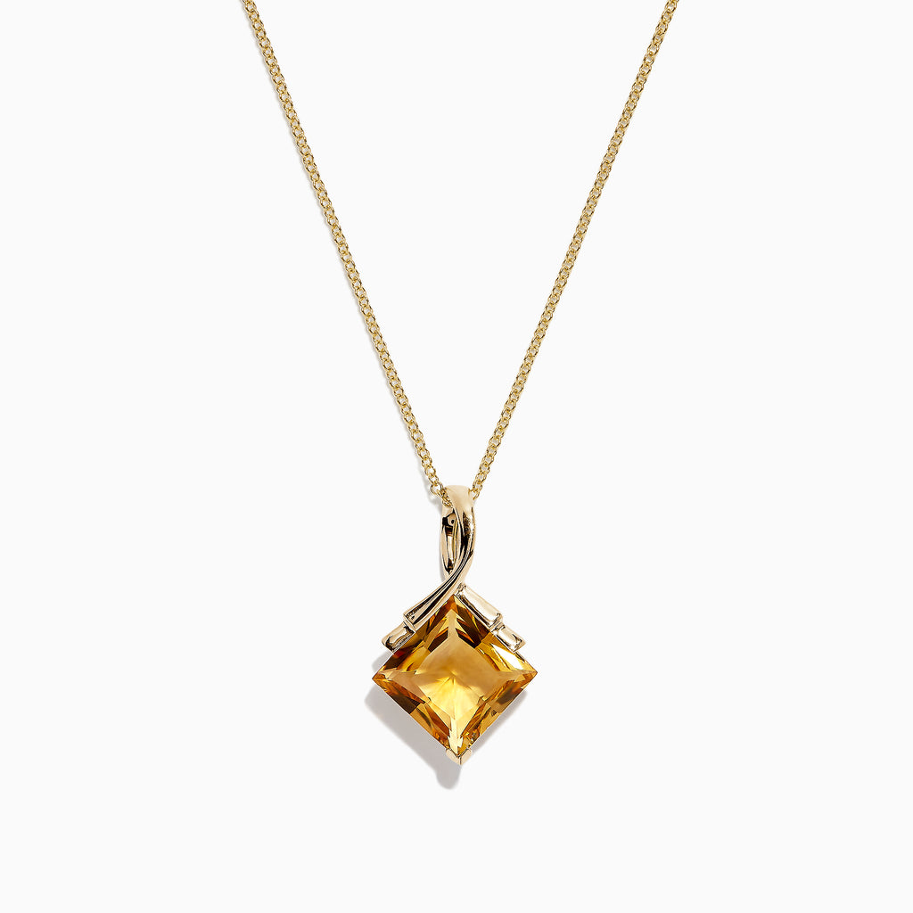 Effy Sunset 14K Yellow Gold Citrine Pendant, 3.85 TCW
