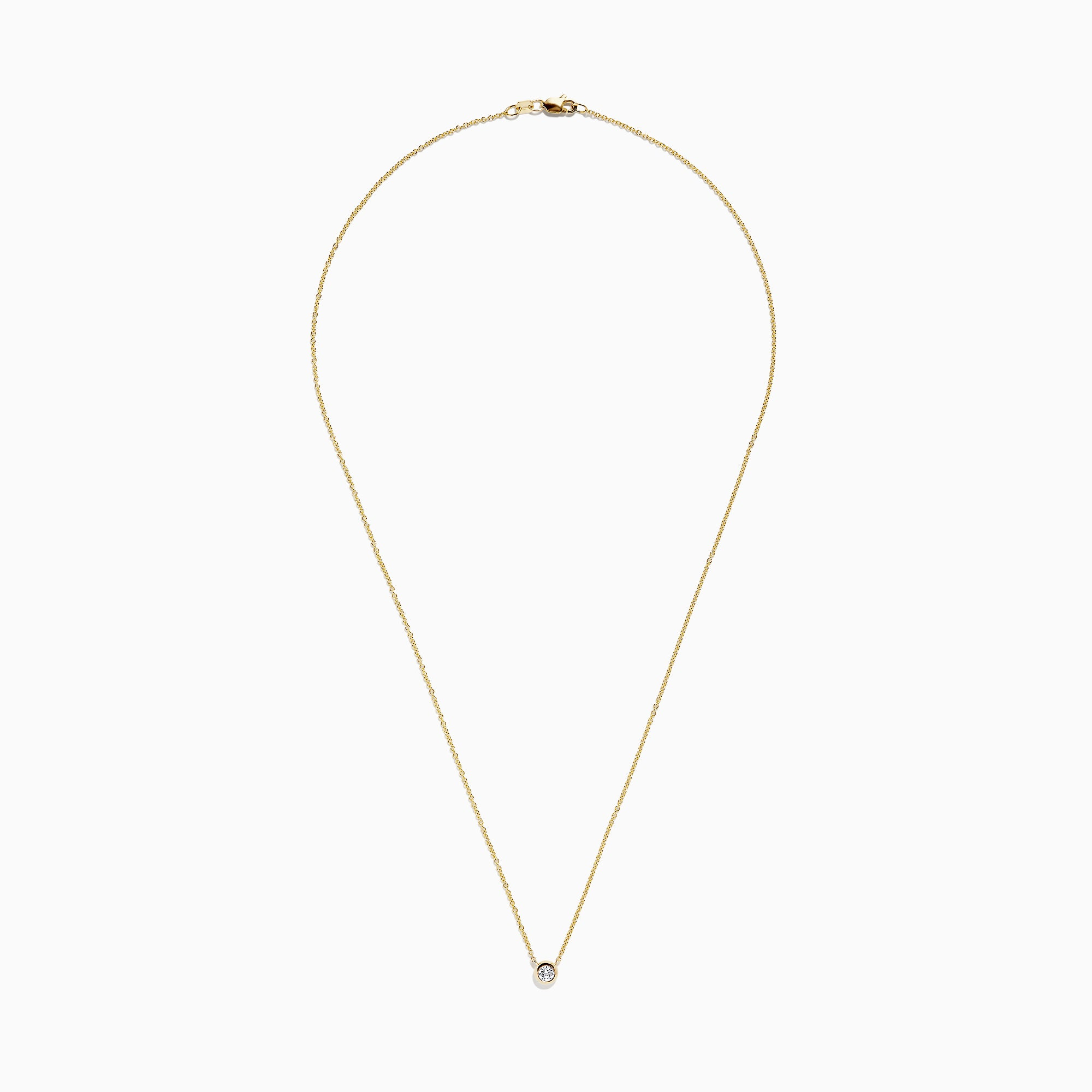 Effy 14K Yellow Gold Diamond Necklace, 0.02 TCW
