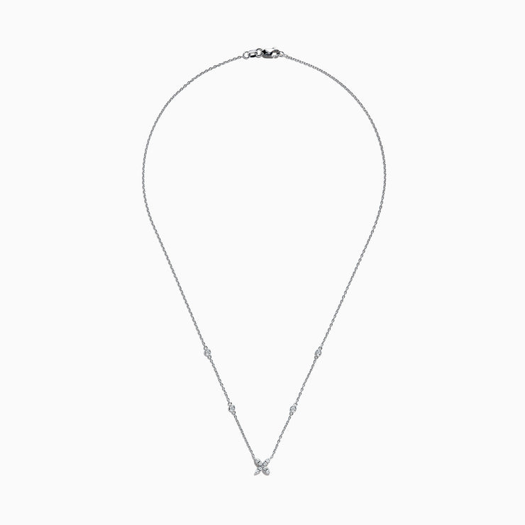 Effy Pave Classica 14K White Gold Diamond Necklace, 0.20 TCW