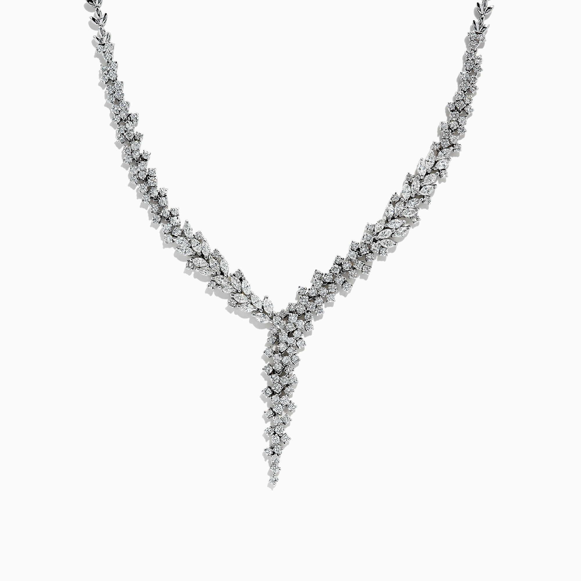 Effy Pave Classica 14K White Gold Diamond Necklace, 7.26 TCW