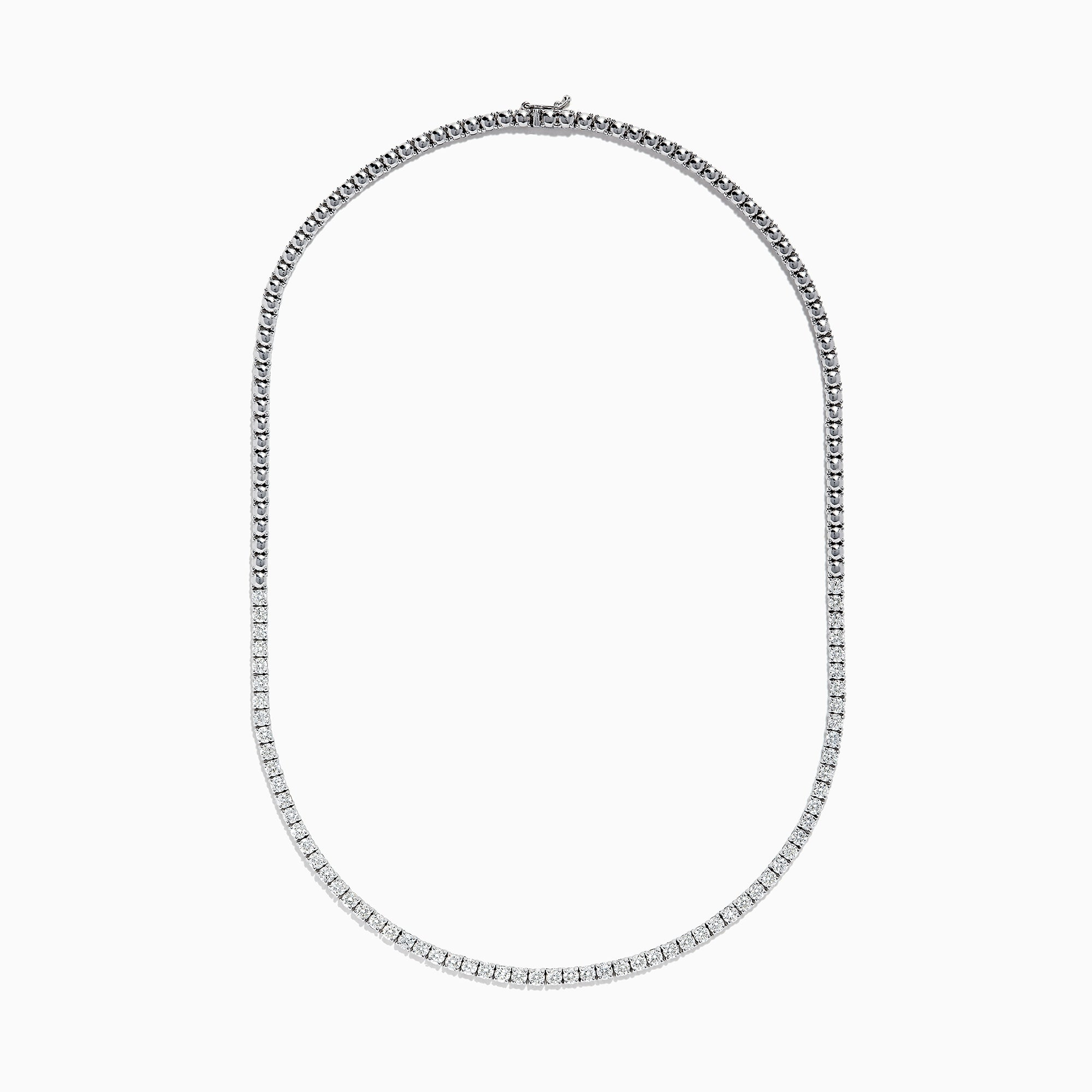 Effy Pave Classica 14K White Gold Diamond Necklace, 5.10 TCW
