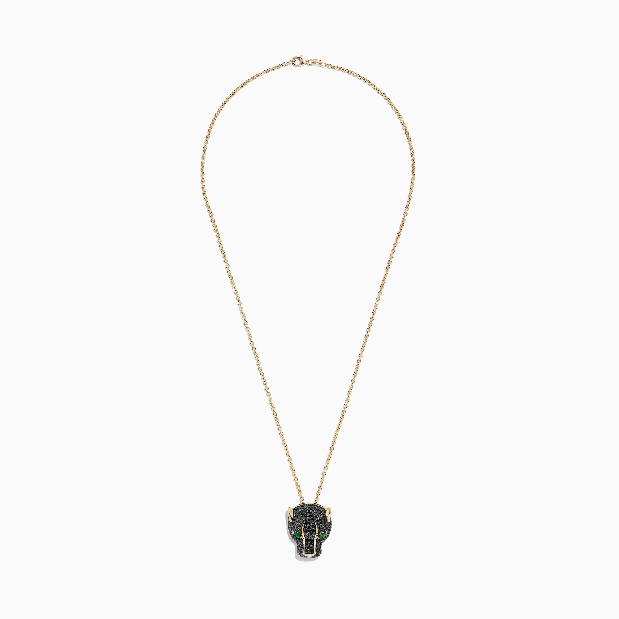 Effy Signature 14K Yellow Gold Black Diamond & Emerald Pendant, 3.23 TCW