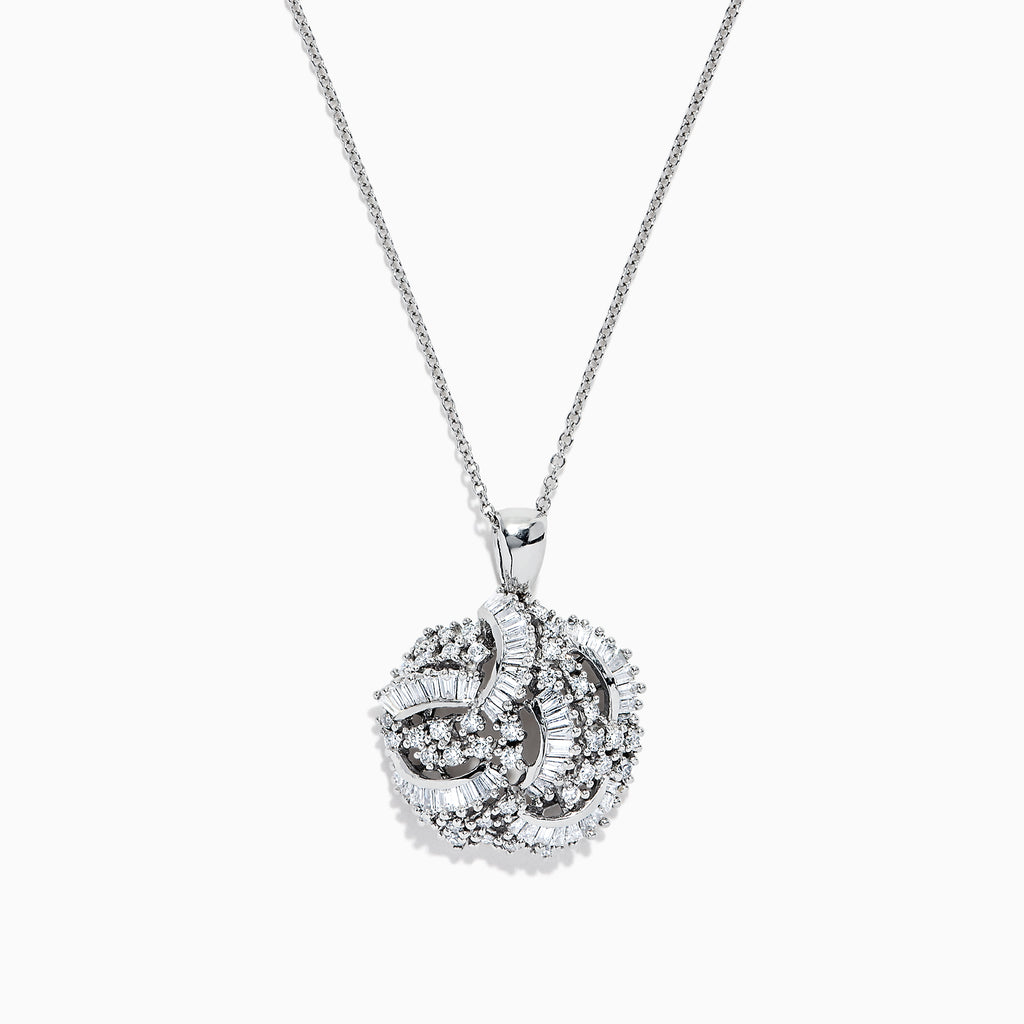 Effy 14K White Gold Diamond Pendant, 1.50 TCW