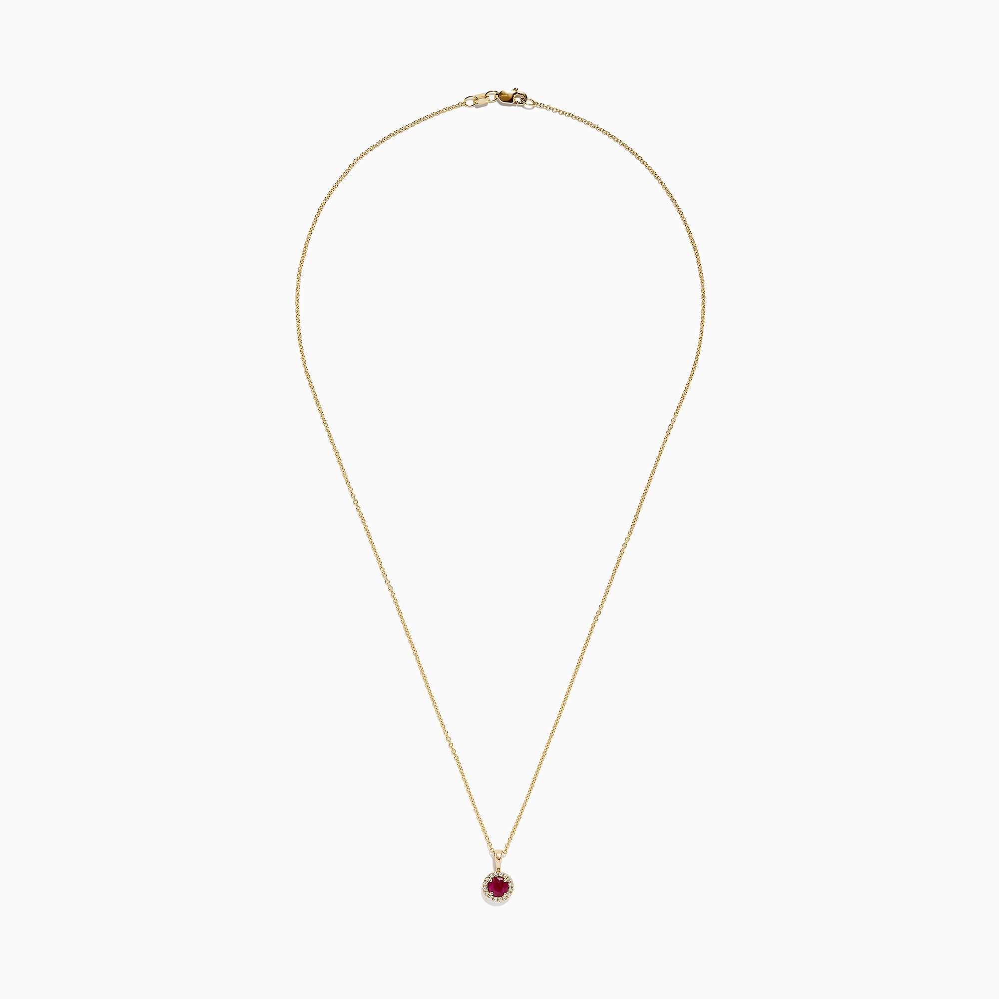 Effy Ruby Royale 14K Yellow Gold Ruby and Diamond Pendant, 0.63 TCW