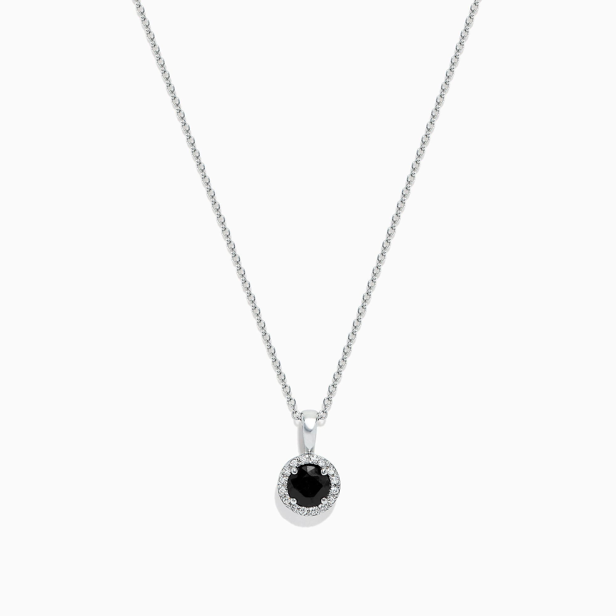 Effy Royale Bleu 14K White Gold Sapphrie and Diamond Pendant, 0.63 TCW
