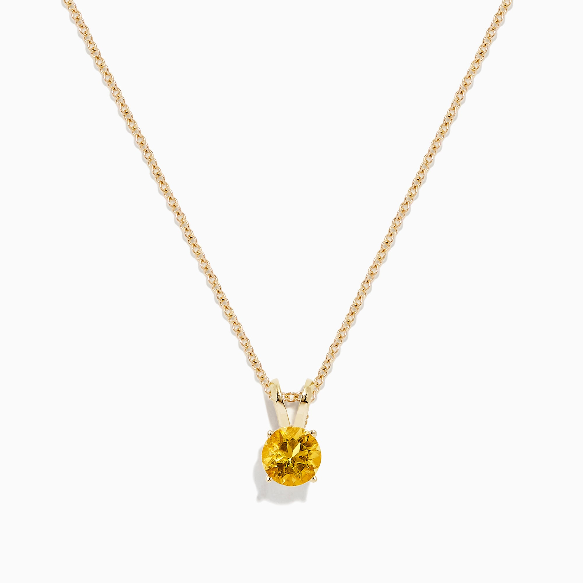 Effy 14K Yellow Gold Citrine Pendant, 0.48 TCW