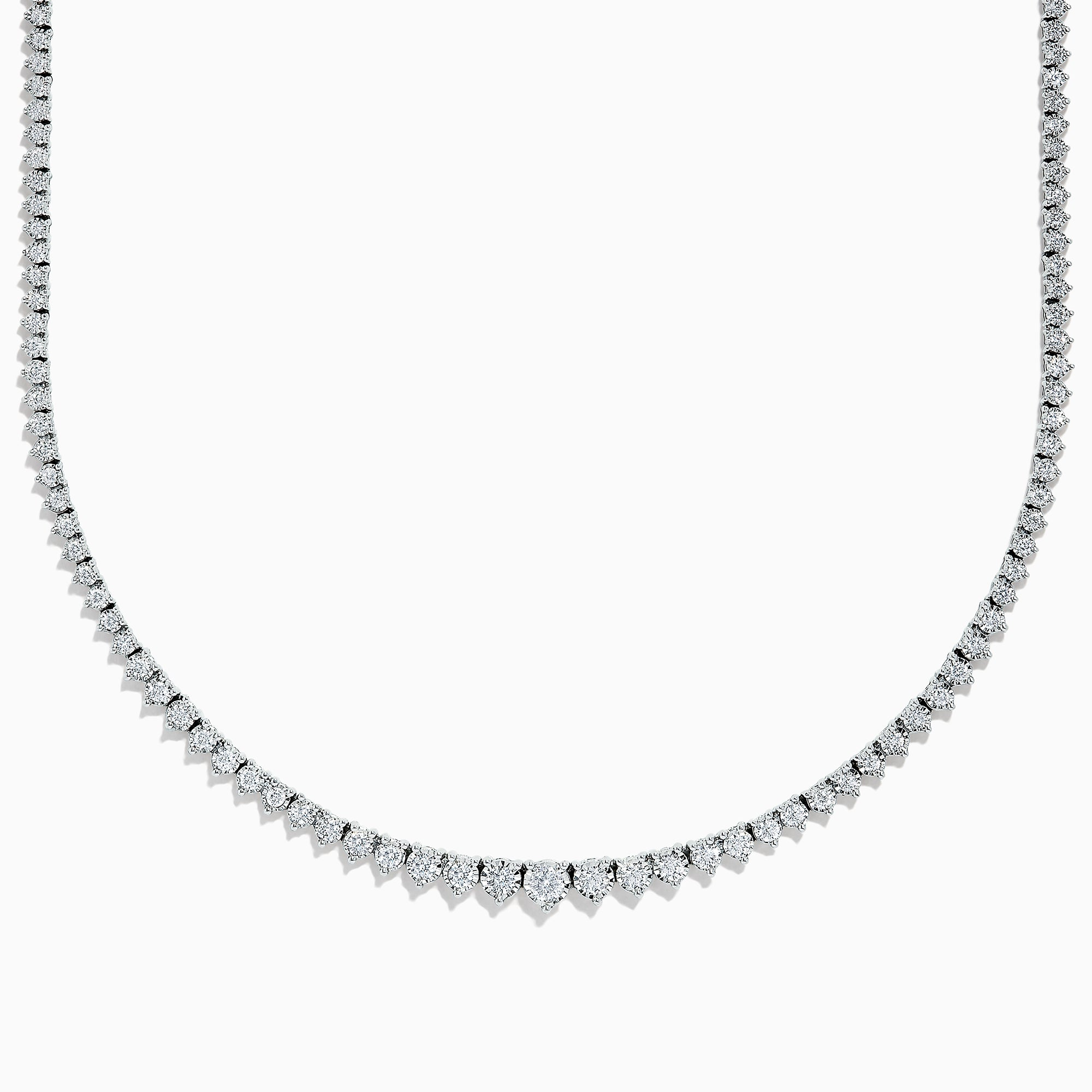 Effy Pave Classica 14K White Gold Diamond Necklace, 2.91 TCW