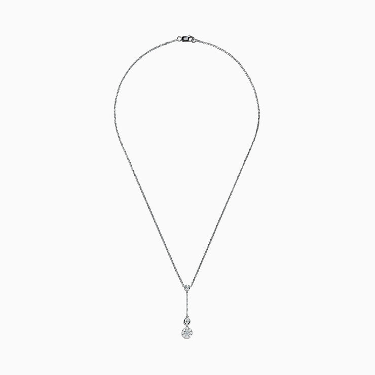 Effy 14K White Gold Diamond Drop Pendant, 0.67 TCW